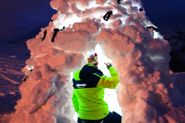 Activité enfants igloo - Ecole de ski Prosneige
