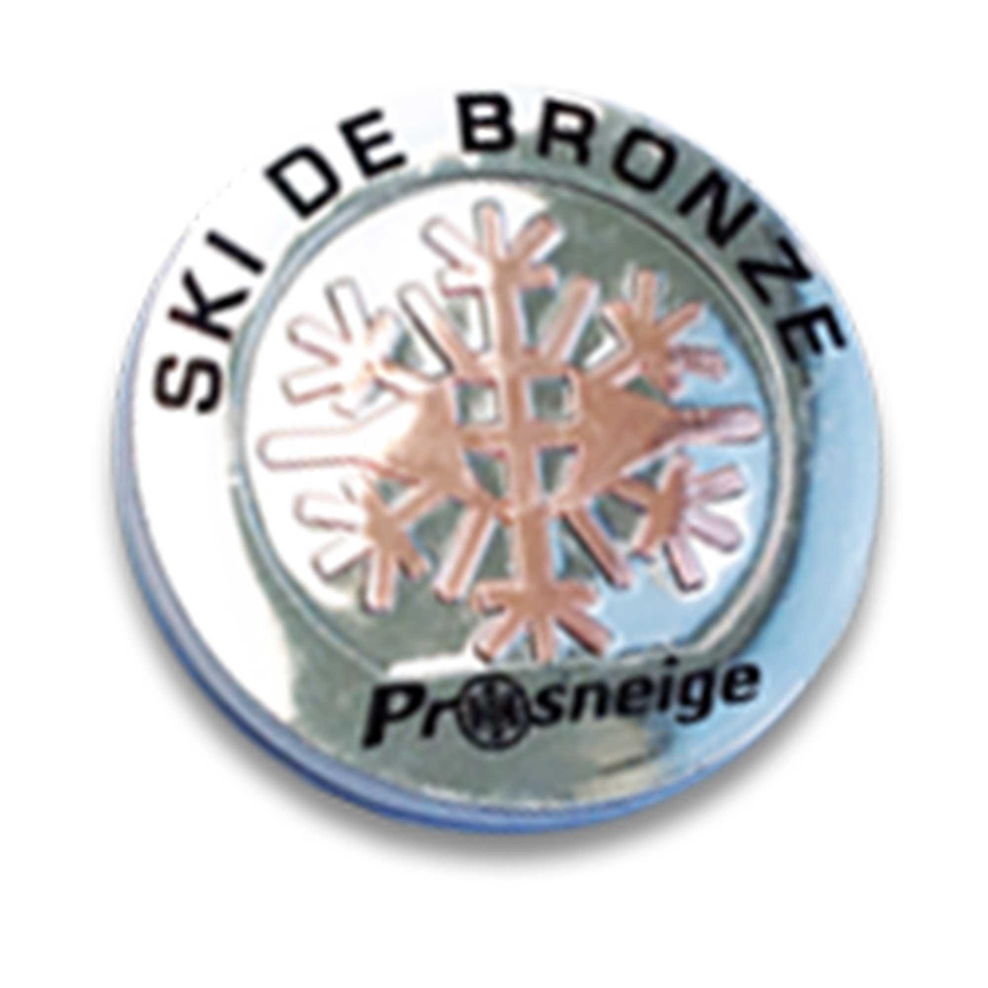 Médailles cours de ski enfant bronze