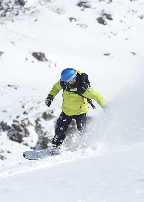 galerie photos prosneige moniteur snowboard hors-piste