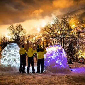 construction igloo prosneige meribel