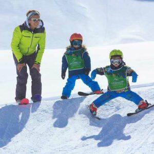 cours collectifs enfants ski snowboard